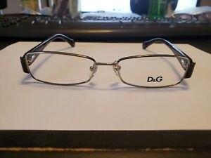 NEW  DOLCE & GABBANA DG 5093 061 SILVER/BLACK 51-16-130 FLEX HINGES PERFECT