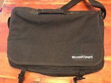 VINTAGE MICROSOFT SMART SATCHEL MESSENGER SHOULDER LAPTOP BAG BLACK (JL)