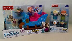 Disney Frozen Kristoff's Sleigh & Olaf Anna Elsa Sven Fisher Price Little People