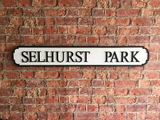 SELHURST PARK Vintage Wood London Street Road Sign