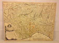 Antique Map of Part of Italy Alta Lombardia by Giacomo Cantelli da Vignola