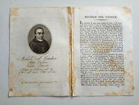 1817 Ortolani, Ritratto/Bio di Michele del Giudice, Abate Letterato, Palermo