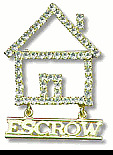 House with Escrow - Real Estate - Crystal Jewelry Pin
