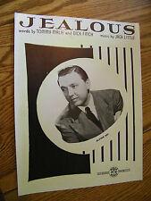 Sheet Music Jealous By Tommy Malie, Dick Finch & Jack Little
