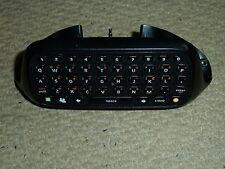 MICROSOFT XBOX 360 CONTROLLER UFFICIALE LIVE Chatpad Tastiera Chiave Pad Chat Nero