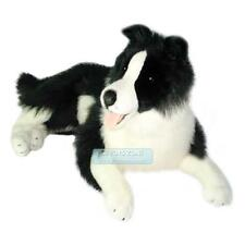 "Lying Border Collie Soft Plush Toy Stuffed Animal 25"" Realistic Feature - Oscar"