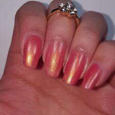 SHIMMERY GOLD PINK Shiny Nail Polish 15ml indie 5-free handmade cruelty-free