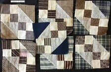 21 Antique Quilt Blocks Flying Geese and Double 4-Patch C1890-1910