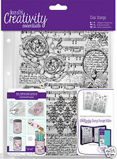 Docrafts Papermania A5 MUSICALITY music background stamp set + storage folder