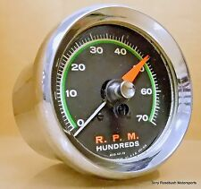Sun SST-70 Super Tach, 7,000 RPM, Green Face, w/Chrome Cup & Mount,