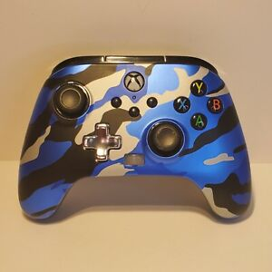 Power A Camo Blue Enhanced Wired Controller With Paddles for Xbox One / Series X
