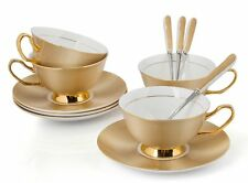 Porcelain Tea Cup and Saucer Coffee Cup Set Golden color with Spoon Tc-Tw S7