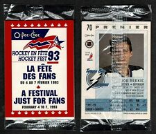 1993 OPeeChee Hockey Fest '93 Promo Pack of 3 +Header, with Lightning Joe Reekie