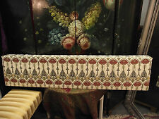 BEAUTIFUL LARGE BOX PELMET - RENNIE MACKINTOSH BELLE EPOQUE EMBROIDERED FABRIC