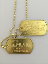 Custom Brass Military Style Dog Tag