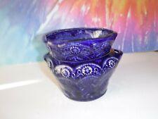 Med Dark Blue Lace African Violet Ceramic Pot/Planter