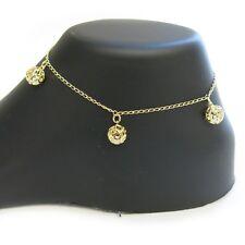 Cz Dangle Spheres Anklet 18k Gold Filled Clear