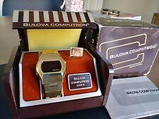 Vintage Bulova Computron LED Mens Wristwatch In The Box
