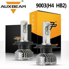 AUXBEAM H4 9003 60W 7600LM LED Headlight Bulbs Kit 6000K Hi-Low Beam HB2 Lamp US