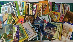 120 Mixed assorted SWAP CARDS Vintage bulk bundle good condition