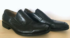 CHAPS Grafton Black Leather Slip On Loafer Dress Shoes Mens Size 11 M