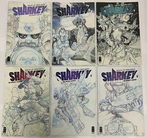 Sharkey Complete 6 Issue Image Netflix Cover B Set 1 2 3 4 5 6 Mark Millar
