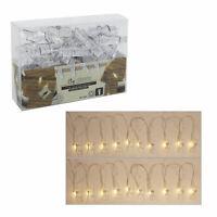"""Lichterkette """"Foto-Clip"""" mit 40 LEDs Wäscheklammern 40 Clips Bilder Fotos 5m"""