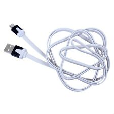 White 2M Noodle Micro USB Data Sync Charge Cable fr Samsung S3 S4 i9500 Note3SL5
