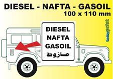 Diesel Nafta Aufkleber - zB Defender, G-Klasse, 4x4, Land Rover, gedruckt