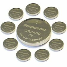 10pcs Panasonic Cr2450 3v Coin Lithium Battery by panasonic