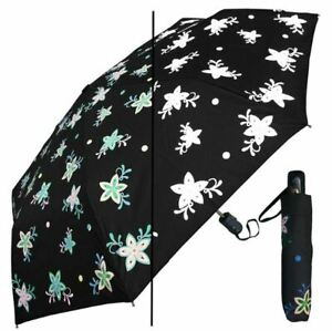 """Umbrella - Color Changing 44"""" Auto Open by RainStoppers - Star Flower"""