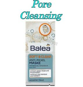 Balea Mask Soft Clear Anti Pimple Mask Pore-Cleansing Skin with Clay