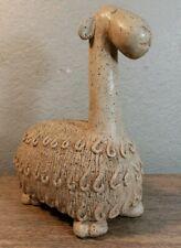 Vintage Llama Alpaca Statue Figurine Florentine Art Studio Pottery
