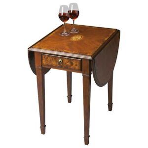 Butler Glenview Olive Ash Burl Pembroke Table, Olive Ash Burl - 1576101