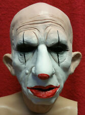 Realistic Male Man Latex Mask Creepy Clown Costume Disguise Halloween Horror