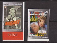 (*) BELGIE ONGETAND OBP nrs. 3167/68 ND, ongetand m. rugnummers. Cw. € 30,- film