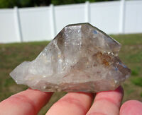HIMALAYAN DT Scepter Quartz Crystal Point Wand Clear Rainbows Double TERMINATED