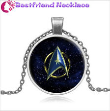 Star Trek Steampunk Moive Glass silver necklace for women men Jewelry
