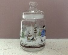 Princess House Snowman Family Cookie/Biscuit Jar France Added Cookie Cutters