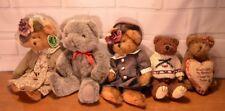 Lot 5 vintage various brands Bearington, Tippy, Boyds Bears country plush toys