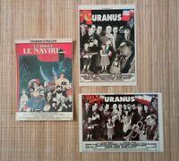 3 Carte postale de cinéma Uranus Et vogue le navire affiche de Tardi