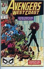 Avengers West Coast 1985 series # 48 near mint comic book