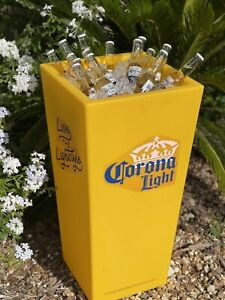 """Corona Light Beer Large Display Cooler Ice Chest Ashtray 15"""" X 15"""" X 31"""" New"""