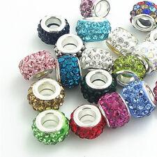 Hot 50pcs mix Rhinestone Bead fit European Charm Bracelet jewelry DIY  #2