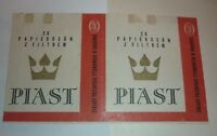OLD CIGARETTE PACKET BOX LABEL, POLAND, PIAST BRAND