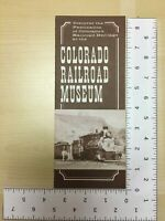Vintage Travel Brochure Colorado Railroad Museum Golden Colorado