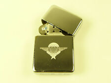 FOREIGN LEGION PARACHUTE QUALIFICATION WINGS ON A CLASSIC HAND ENGRAVED LIGHTER