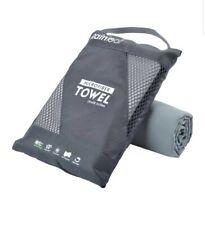 Rainleaf Microfiber Towel Perfect Travel & Sports &Beach Towel 20x40 Gray