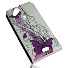 Design No.6 Flip Tasche Cover Case Handy Hülle für Sony Ericsson  Arc - Arc S