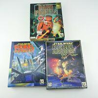 Lucas Art Star Wars Dark Force, Rebel Assault & Rebel Assault II PC Game